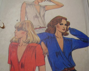 Vintage 1970's Butterick 6887 Blouse Sewing Pattern, Size 14, Bust 36