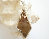 Wire Wrapped Pendant, Jasper, Jewelry, Handmade