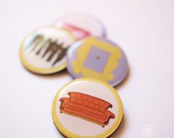 Set of 4 F.R.I.E.N.D.S inspired Magnets. Fridge Magnets.