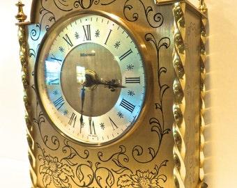 Clock Wedgefield West Germany Brass Mantel Clock, Paris Apartment