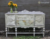 Antiqued Silver Map Buffet