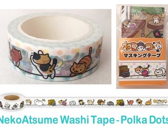 Neko Atsume Washi Tape - Kitty Collector - Polka Dot