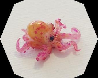 Realistic Baby Octopus, ooak handmade miniature sculpture