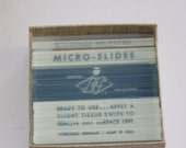 Vintage Microscope Slides (Over 60 in a box)