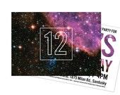 Girl's Science Birthday Party Invitations, Supernova STEM Space Birthday: Custom Printable or Printed