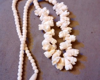 Carved Bone Necklace Very Unique