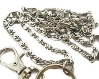 Swirls Chain Lanyard, Stainless Steel Chain Badge Holder, Id Badge Holder, Id Lanyard, Work Lanyard, Chain Lanyard, Id Necklace, Id Holder