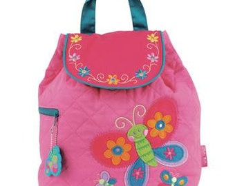 Personalized Stephen Joseph Butterfly Quilted Backpack