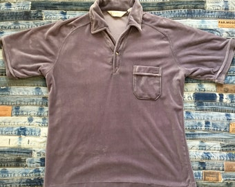 1970 Capri California - David Langman - Velour Shirt - Size Large