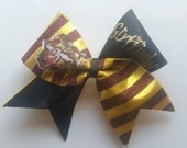 Harry Potter Inspired Cheer Bow with House Crest