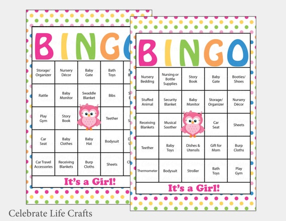60 owl baby shower bingo cards 60 prefilled bingo cards girl il570xn pin it solutioingenieria Gallery