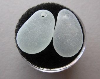 Genuine Top Drilled Sea Foam Seaglass - Eco Friendly Sea Glass Jewelry Supply