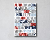 Phonetic Alphabet Art 02 | Aviation Inspired Art | Canvas Decor | Typography Quote Print | Alpha Bravo Charlie Yankee Zulu