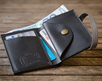 Black Leather Wallet, Mens Wallet, Leather wallet, Mens Wallet Bifold