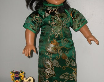 Asian Oriental Traditional Chinese dress Qipoa or Cheongsam  Kimono for popular 18 inch dolls, clothes made by Project Funway on Etsy