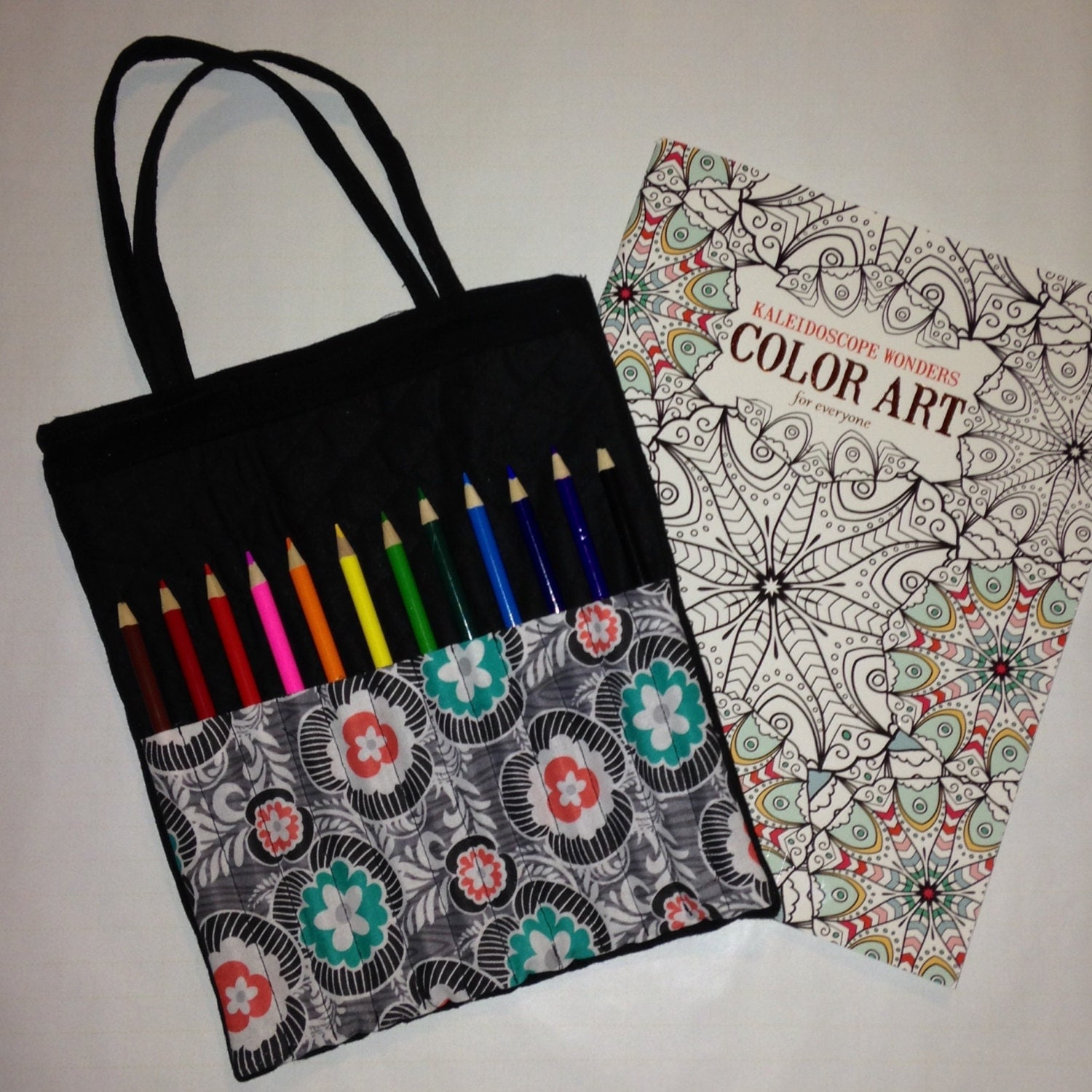 coloring gift set for teens and adults tote bag book and 12. Black Bedroom Furniture Sets. Home Design Ideas