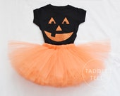 PUMPKIN Halloween Costume Tutu, Includes Tutu & Shirt  - Sizes 12 months to 4 years old