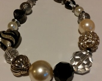 ON SALE Beautiful Statement Necklace, big beads, lots of love