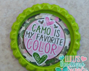 Finished Bottle Caps, Bottle Cap Images, M2M Ribbons, Finished Caps, Jazzy Lu Ribbons, Camo, Girls Camo, Camo is my Favorite Color