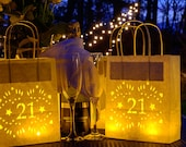 21st Birthday Lantern Bags, perfect entrance or table centrepiece