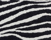 Black Ivory Zebra Upholstery Fabric - Modern Animal Fabric by the Yard - Zebra Pillow Covers - Black Exotic Animal Bedding Fabrics Online