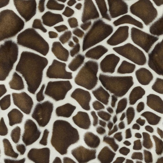 Brown Giraffe Upholstery Fabric Animal Print By PopDecorFabrics