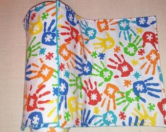 Autism awareness Unpaper towel set, paperless, eco friendly, untowels, kitchen cloths, autism decor,