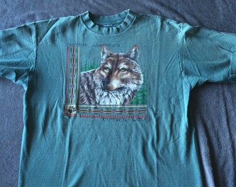 Vintage Native American Timber Wolf T-Shirt