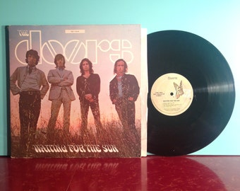 The DOORS Waiting For The Sun Vinyl Record Album LP 1968 Gatefold Hello I Love You Psych Rock Jim Morrison Very Good + Condition Vintage