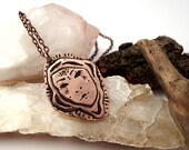 Soul Sister Pendant - Copper Pendant, Eco Friendly, Artisan, Handmade, Magick, Protection, Soul Tribe, Gypsy, Boho, Witch, Drawing, Ancient