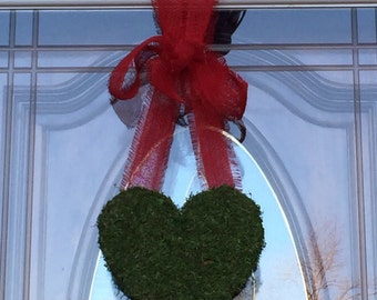 Moss- Covered Hanging Heart