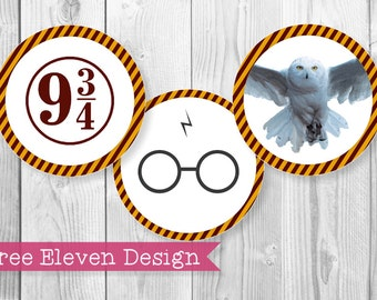 Harry Potter PRINTABLE Cupcake Toppers