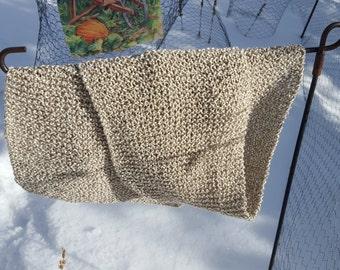 Hand Knit Scarf - Cream (100% Cotton)