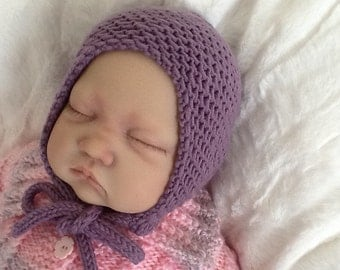 Newborn baby hat. Baby girl bonnet. Essential Newborn bonnet.Classic Baby bonnet.Unisex baby bonnet. READY TO SHIP.