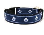 Dog Collar, Toronto Maple Leafs, Toronto, FREE SHIPPING, maple leafs, dog collar