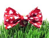 Valentine Doggie Bow Tie, Dog Bow Tie, Heart Bow Tie