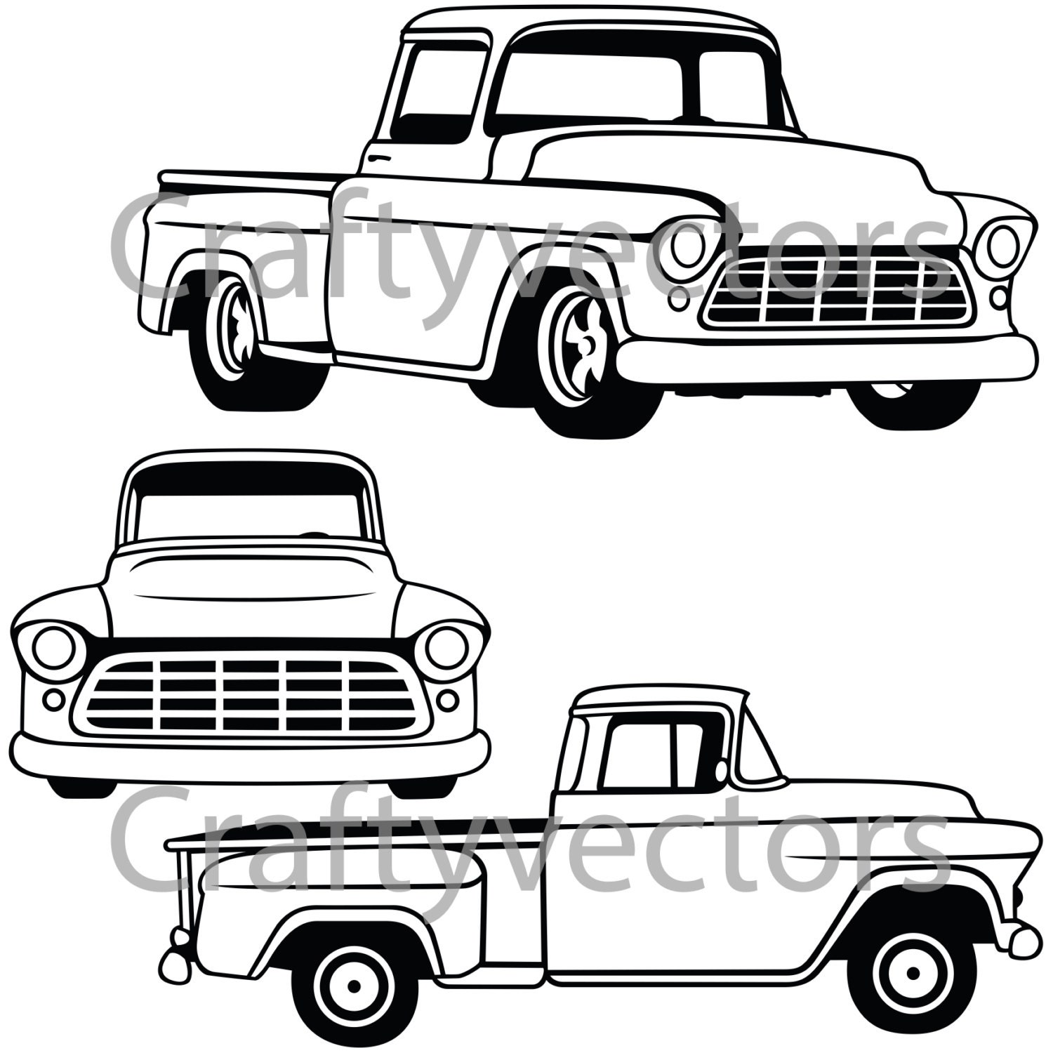 chevy truck vector images