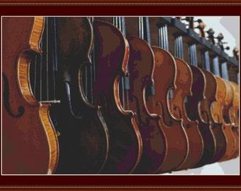 Violins Cross Stitch Pattern