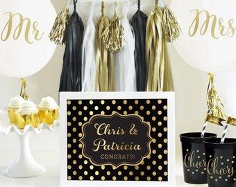 Mr. & Mrs. Balloons, Wedding Balloons, Bridal Shower Balloons, Wedding Decorations - Set of 3
