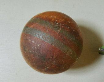 Vintage Croquet Ball Wood Primitive