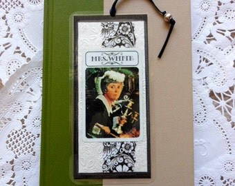 Mrs. White Vintage Clue Game Card Laminated Bookmark