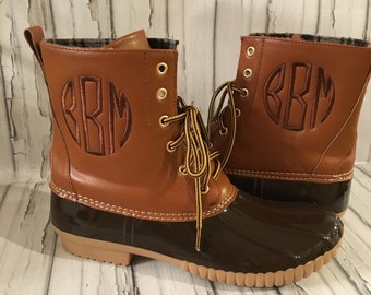 Monogrammed Boots Two Tone Black Brown Women S By