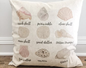 Seashell Pillow Cover