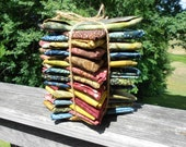 Moda Laundry Basket Batiks Fat Quarter Bundle of 24 - Includes Harvest Yellow -Mystic Blue-Russet Reds and Forever Green
