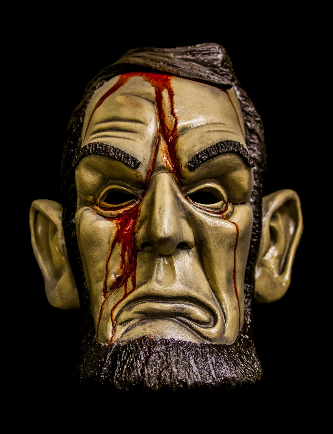 Lincoln Mask With Blood Purge election year inspired.