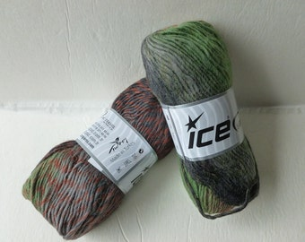 Sale Brown, Green and Orange Marvelous Pure Wool by Ice