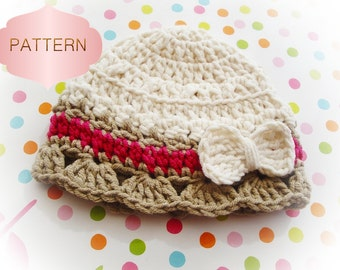Baby Hat Crochet Pattern 01- Easy and simple to make- 0 to 36 months