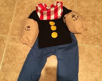 Popeye, popeye the sailor, costume, OOC, pageantwear, baby, toddler, newborn, 3, 6,9. 12,18, 24 months, 2t, 3t, 4t