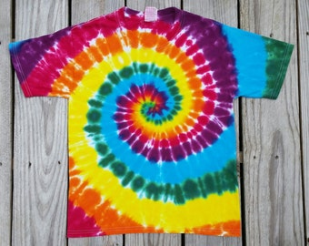Kids Rainbow Tie Dye Tshirt, Sizes Available XS S M L XL, Boys Tie Dye, Girls Tie Dye, Hippie Kids, Tie Dye Tee