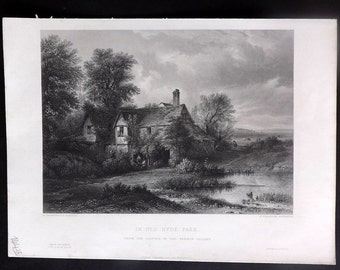 After Nasmyth C1860 Art Journal Print. In Old Hyde Park